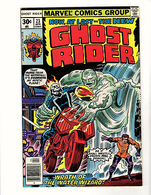 Ghost Rider #23 (1977, Marvel) FN/VF 1st App Water Wizard! Jack Kirby Cover