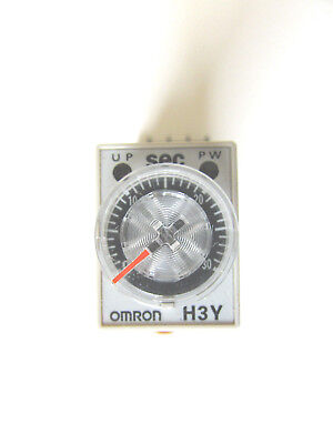 OMRON DELAY-ON TIMER Time Relay 2~60min 2-Pole 110VAC H3Y-2 w ... on omron solid state timer, omron h3y-2 12vdc, omron time delay relay on 60 min, omron h3y-4,