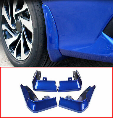 Blue Front Splash Guards Mud Flaps Fenders For Honda CIVIC 2016-2017 2018