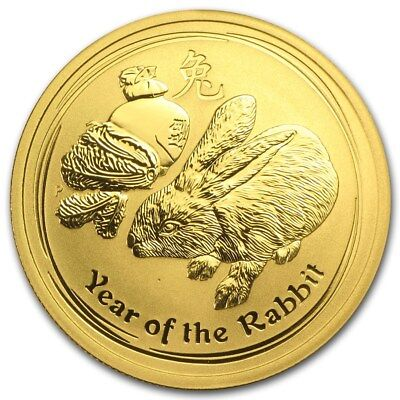 1/2 oz GOLD coin - Perth Mint 2011 Lunar Year of the Rabbit - GOLD COIN