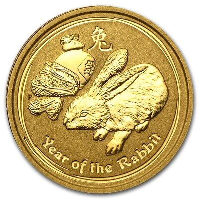 1/2 oz GOLD coin - Perth Mint 2011 Lunar Year of the Rabbit - only 8885 mintage!