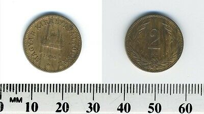 Hungary 1894 KB - 2 Filler Bronze Coin - Crown of St. Stephen