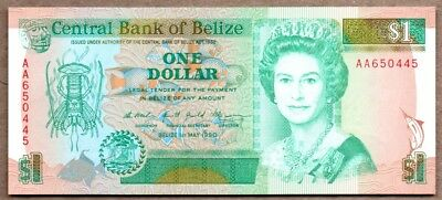 Belize UNC Note 1 Dollar May 1990 P-51
