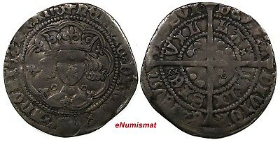 Great Britain ENGLAND Henry VI (1422-1461) Silver 1422-30 Groat Toning S-1836