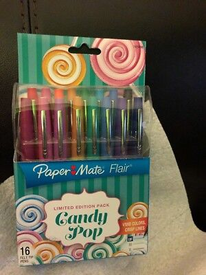 Paper Mate Flair 16 Count Limited Edition Pack Candy Pop