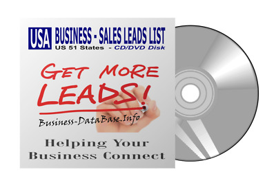 US Business DataBase Sales Leads USA All States Full Version Telemarketing List