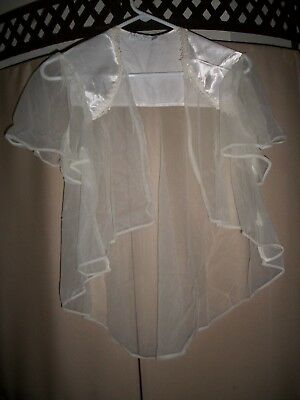 Val-Mode Lingeria Sheer Night Shirt / White / One Size / Excellant Condition