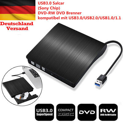 USB Extern 3.0 CD-RW DVD±RW Brenner Slim Laufwerk Portable Brenner Notebook PC