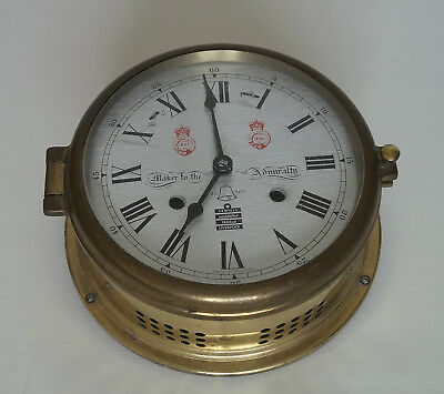 Sewills of Liverpool Ships Brass Bulkhead Clock For Spares or Repair Only
