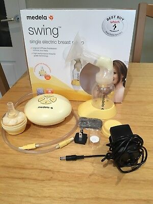 Medela swing single electric breast pump with accessories