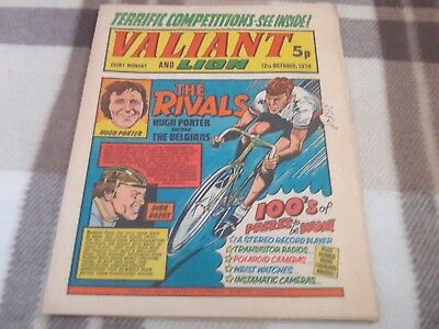 Valiant And Lion Comic.12Th October 1974. Ipc Magazines Ltd. 5P.