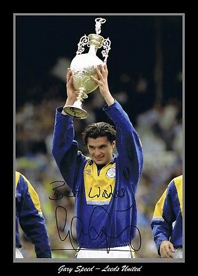 Retro/Photo/Photograph/Leeds United - League Champions 1991/92 Gary Speed Print