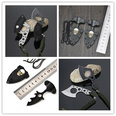 Pocket Mini Knife Skull Claw Hook Fixed Blade Outdoor Camping Survival EDC.AU~