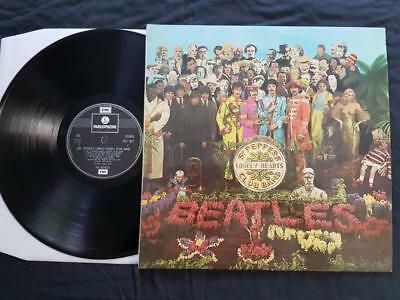 THE BEATLES Sgt Peppers LP UK 2 Box 70's Parlophone Stereo PCS-7027  -1/-1 NM