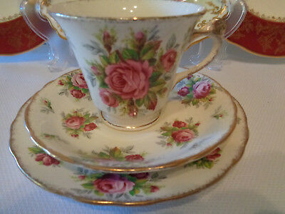 Delightful James Kent Tea Trio - **La Rosa** Pattern Great Condition UK Made
