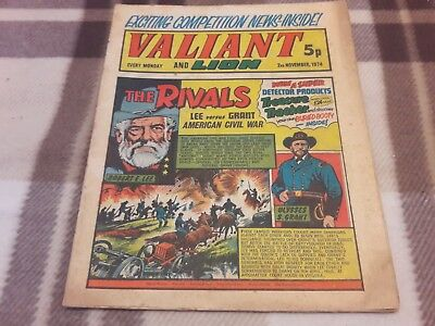 Valiant And Lion Comic. 2Nd November 1974. Ipc Magazines Ltd. 5P.