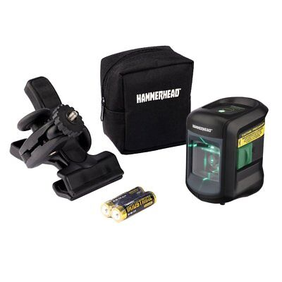 HAMMERHEAD HLCLG01 Green Beam COMPACT Self-Leveling Cross Line Laser with