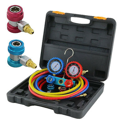 R134A HVAC A/C Refrigeration Kit AC Manifold Gauge Set Auto Service Kit