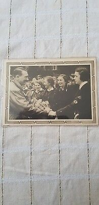 German Reich 1939 Postcard Adolf Hitler Postkarte Stamp BERLIN WW2