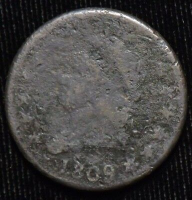 1809 United States Large Cent  AG - G  Corrosion