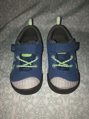 KEEN Toddler Boy Size 7 Chandler CNX Shoes Blue and Green EUC