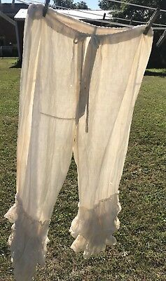 """Victorian 1800's Wedding Bloomers 12"""" Layered Lace Little Bo Peep Chic"""
