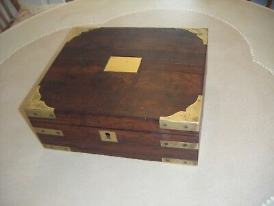 Antique Rosewood and Brass Box