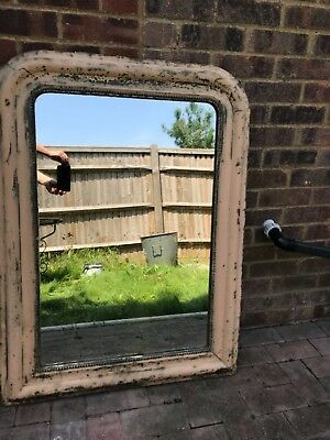 Large Louis Phillipe French vintage beautiful foxed glass mirror