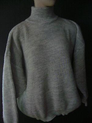 true vintage French Connection  L toller Pullover 90er 90s grau meliert blogger