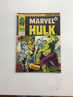 mighty World Of Marvel Incredible Hulk No 198 1st App Of WOLVERINE