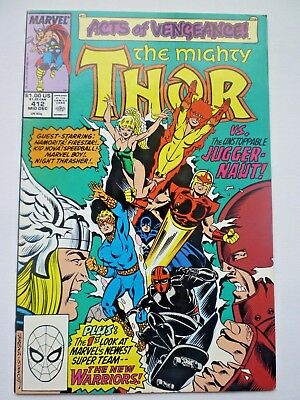 The Mighty Thor 412 First Full New Warriors Marvel Comics