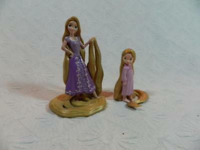 Lot 2 pc Rapunzel Tangled Disney Princesses Collectible PVC Figures ~ EXCELLENT!