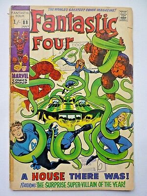 Fantastic Four 88 1969 Silver Age Marvel