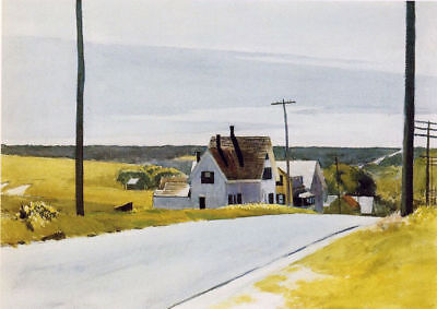 "Squam Light by Edward Hopper  14/""  Paper Print Repro"