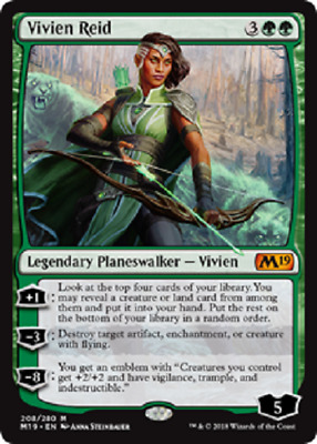 MTG - Core Set 2019 (M19) - Green Cards Numbers 169 to 210