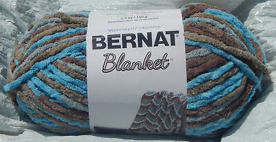 150g Ball /& from Smoke Free Home New Bernat Blanket Yarn in Taupe
