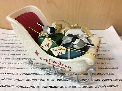 Our Christmas Together Hallmark Ornament 2018 Dated Sled With Presents & Birds