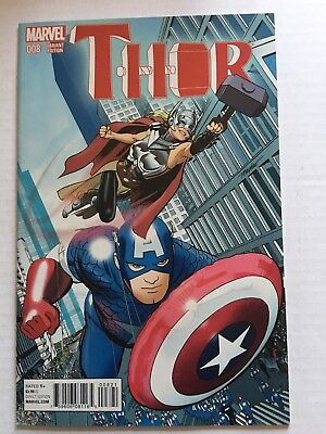 SALE!! Thor # 8; 1st Jane Foster as Thor; Cap/NYC Variant; 12 Pics; Solid Copy