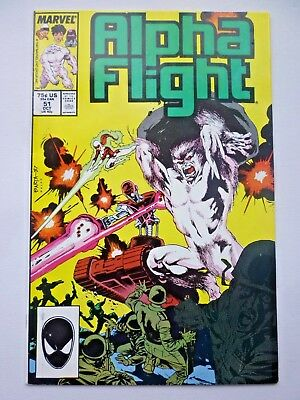 Alpha Flight 51 First Jim Lee Marvel Art Marvel Comics 1987