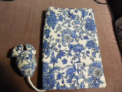 Handmade Fabric Book Cover Book Case With attached BookMark Mouse little used