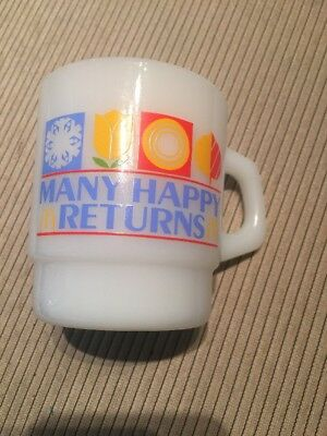 Vintage McDonald's Many Happy Returns Coffee Cup Mug Anchor Hocking Made in USA