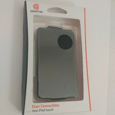 Griffin Elan Convertible Black Leather iPod thouch case