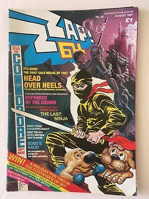 ZZAP 64 Magazine - Issue 28 August 1987 - very good condition