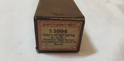 "Eighty Eight Note Piano Roll S 1004  ""Years at the Spring"" pb composer Beach"