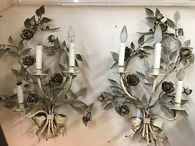Antique Italian Lighted Sconces    REDUCED