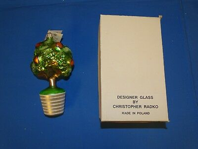 Christopher Radko Ornament A PARTRIDGE IN A PEAR TREE 1993 w/ Box & Tag SIGNED !