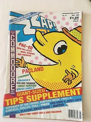 ZZAP 64 Magazine - Issue 37 May 1988 - very good condition