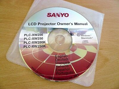 Sanyo PLC-XW Series LCD Projector User Manual/Guide CD