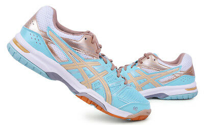 ASICS GEL ROCKET 7 Badminton Shoes Unisex Indoor Sports Sky Blue NWT B455N-6705