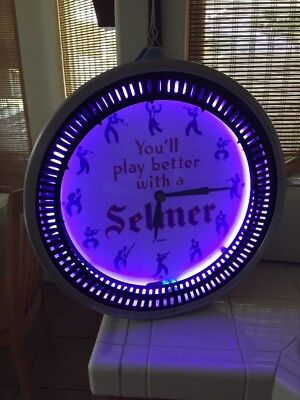 Nice Neon Products Inc Spinner Neon Clock Advertising Selmer Instruments